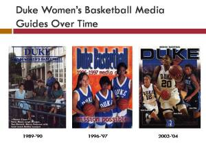 Duke Women's Basketball Media Guides Over Time
